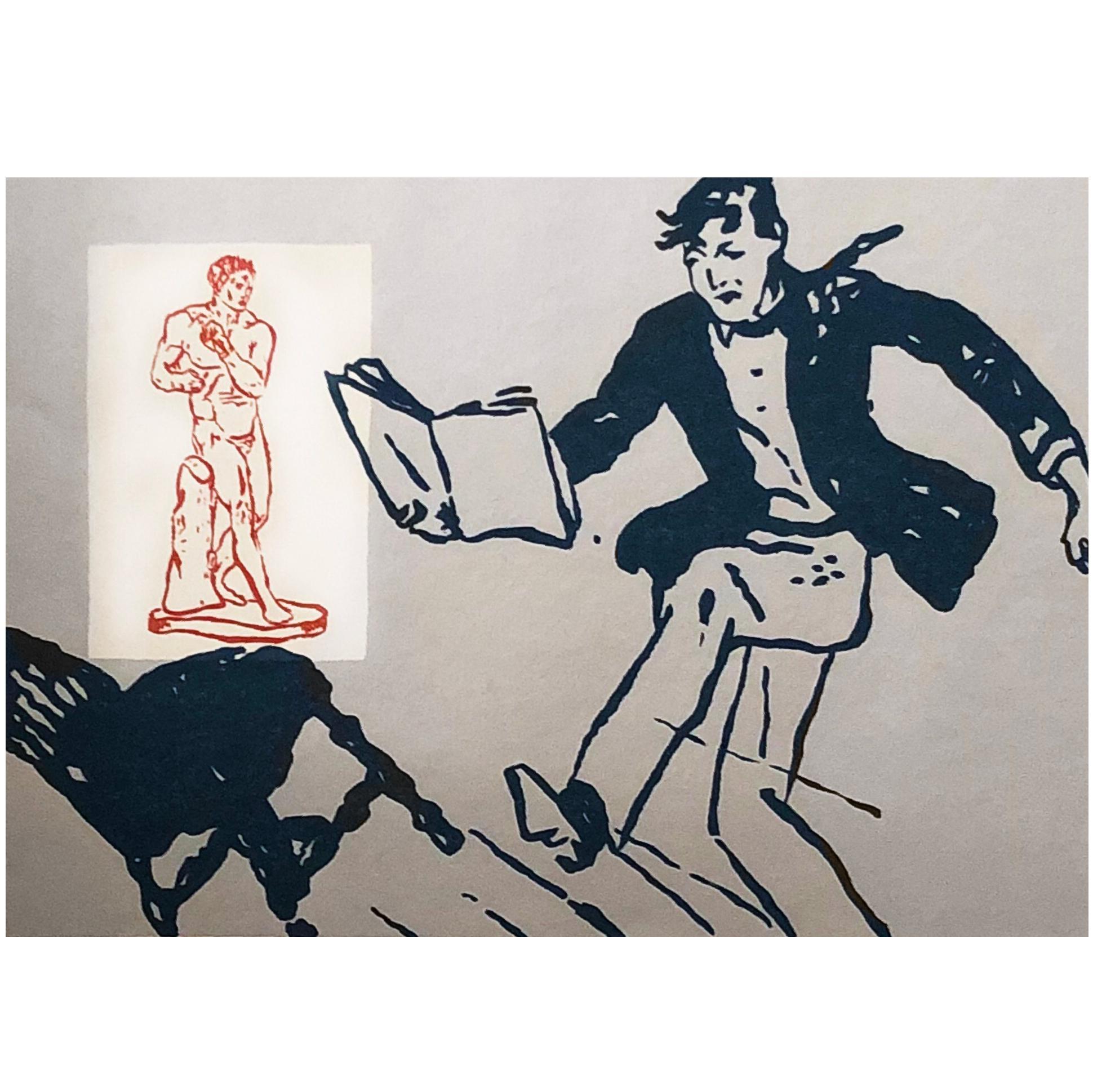 Postmodern Pop Art Silk Screen Painting Print 'Classic Heroes' by David Bromley
