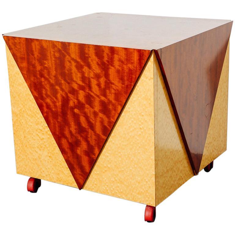 Postmodern Rolling Cabinet or Bar