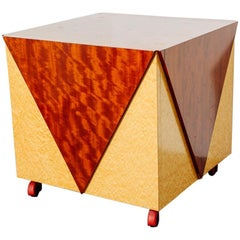 Postmodern Rolling Cabinet or Bar