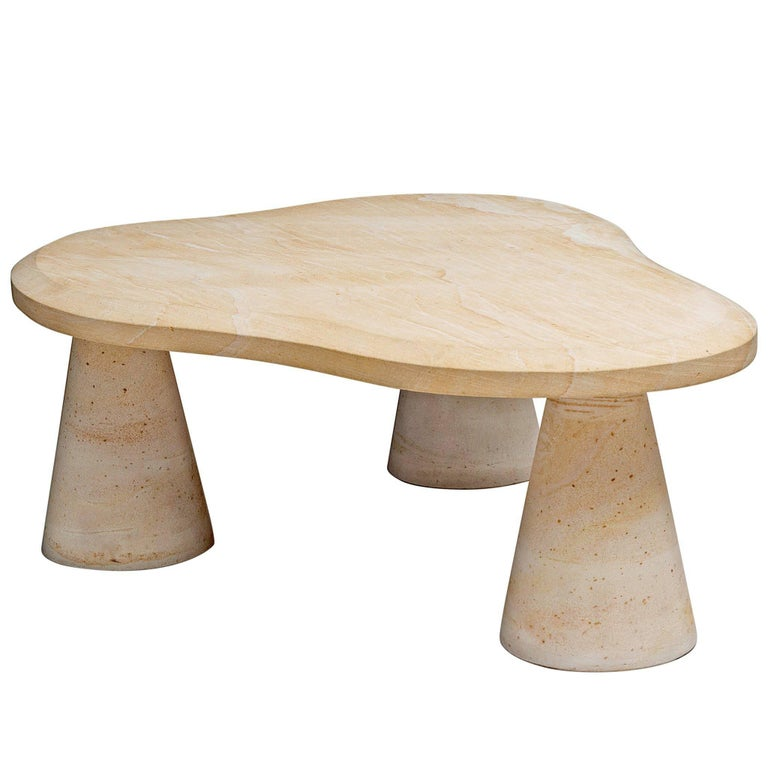 Postmodern Sandstone Coffee Table For Sale