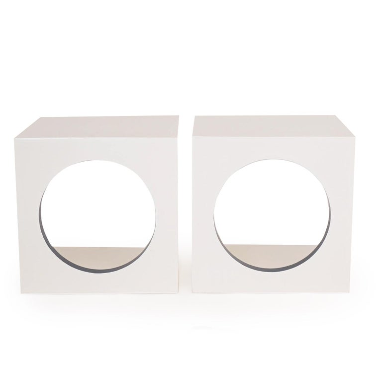 Postmodern Side Tables In New Condition For Sale In Westport, CT