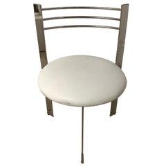 Postmodern Steel Three-Leg Chair