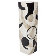 Postmodern Tessellated Stone Et Cetera Pedestal, 1990s