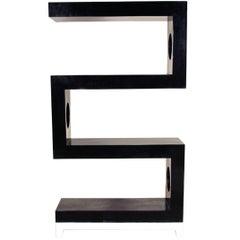 "Postmodernes Tessellierter Stein Vier-Regal ""S"" Etagere, 1990er"