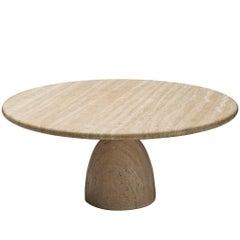 Postmodern Travertine Coffee Table, 1970s
