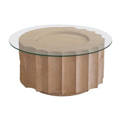 Post-Modern Travertine Coffee Table