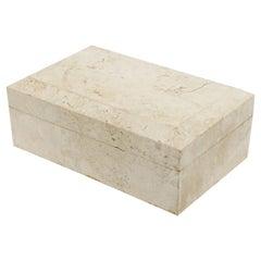 Postmodern Travertine Marble Box
