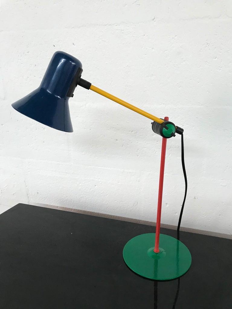 Post-Modern Postmodern Veneta Lumi Desk Task Table Lamp, Italy, 1994 For Sale