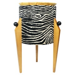 Postmodern Zebra Tripod Side Table