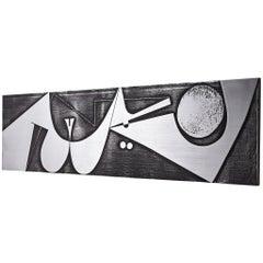 Postwar Wall Panel in Zinc by Gruppo NP2