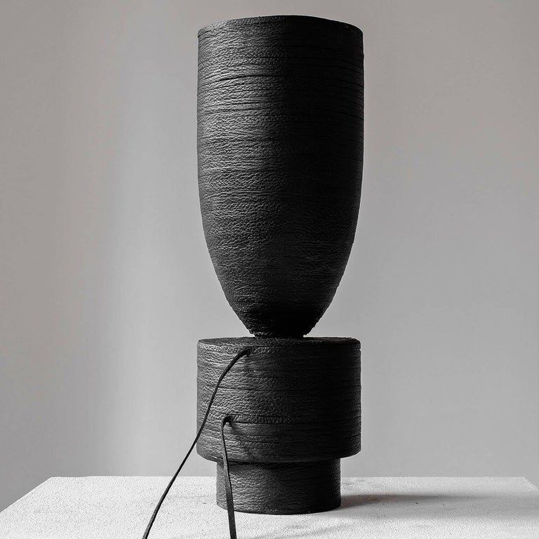 Pot vase leather, Arno Declercq
