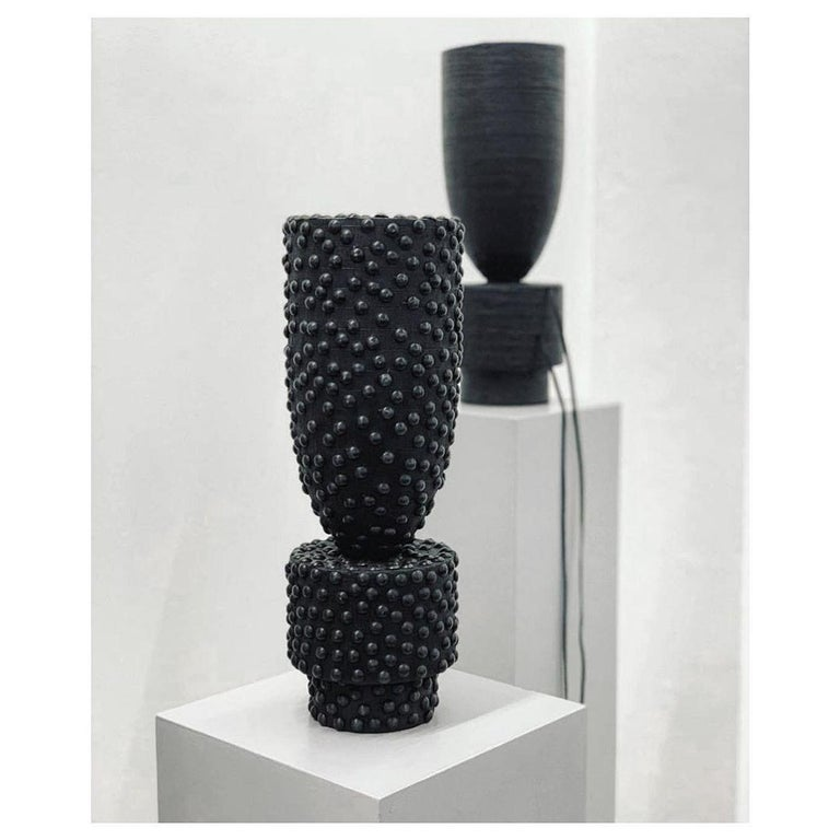 Pot Vase Leather, Arno Declercq In New Condition For Sale In Collonge Bellerive, Geneve, CH