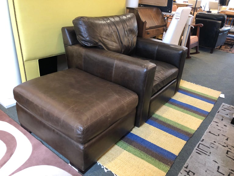 Groovy Pottery Barn Swivel Chair And Ottoman For Sale At 1Stdibs Caraccident5 Cool Chair Designs And Ideas Caraccident5Info