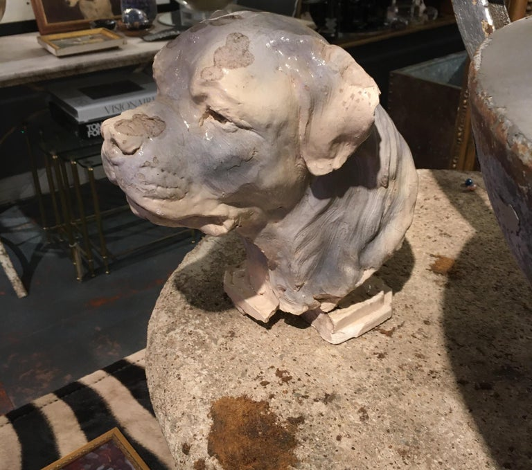 Pottery Dog Sculpture For Sale 5