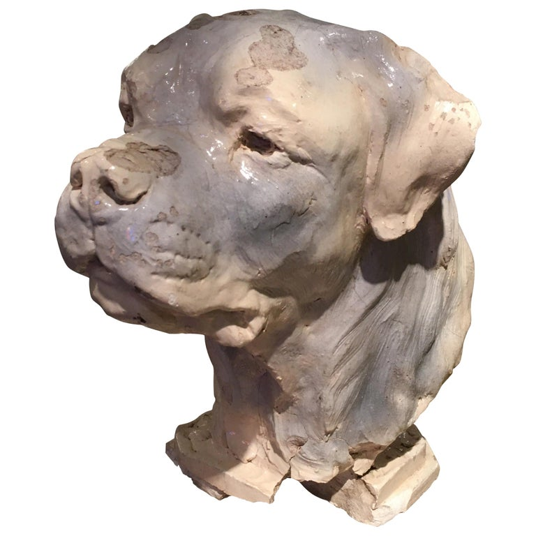 Pottery Dog Sculpture For Sale