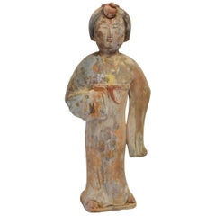 Pottery Figure Court Lady, Chinese Tang Style