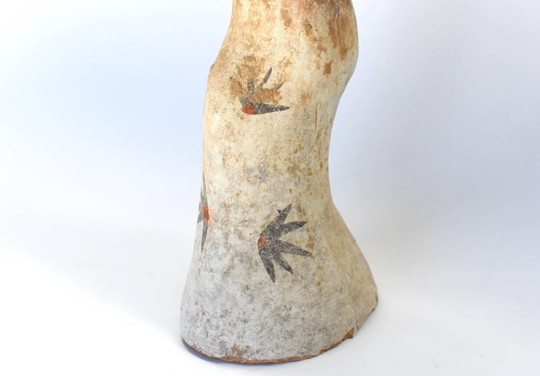 Pottery Figure Dancer, Han Style Terracotta For Sale 5
