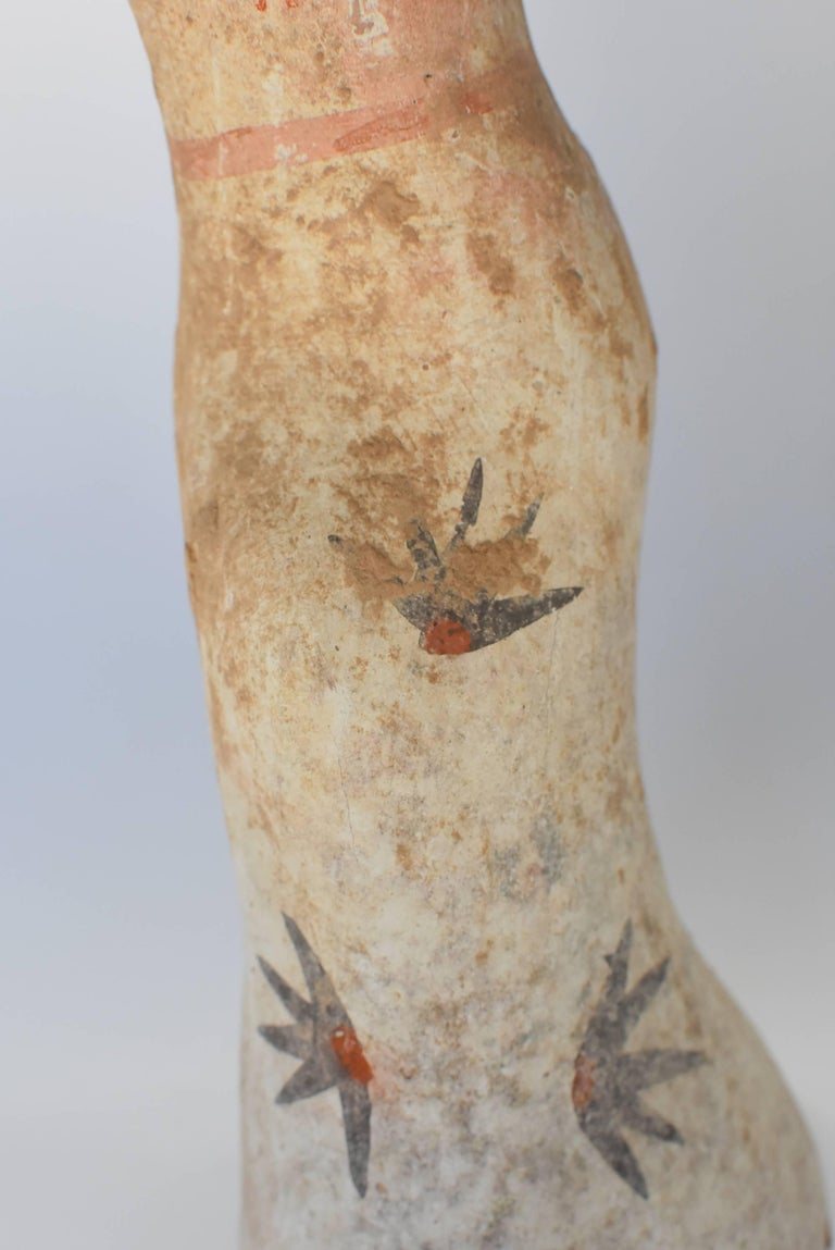 Pottery Figure Dancer, Han Style Terracotta For Sale 6