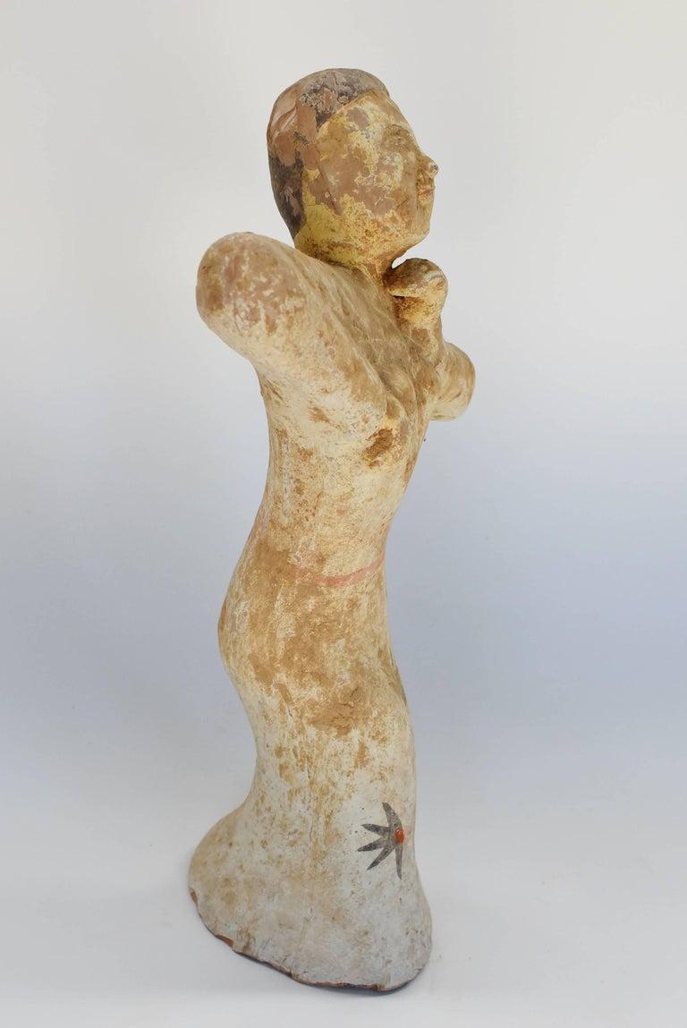 Pottery Figure Dancer, Han Style Terracotta For Sale 11