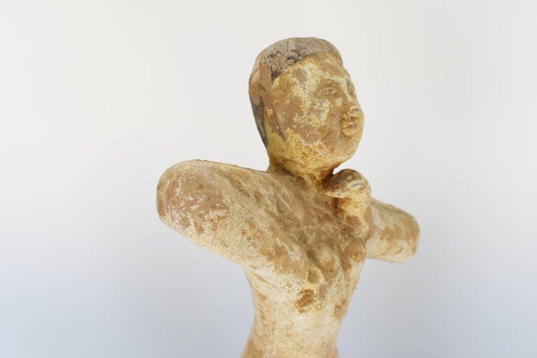 Pottery Figure Dancer, Han Style Terracotta For Sale 12