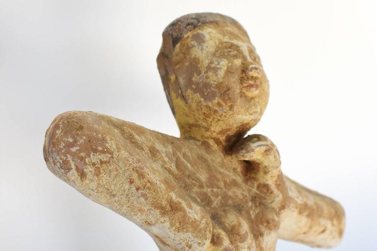 Pottery Figure Dancer, Han Style Terracotta For Sale 14