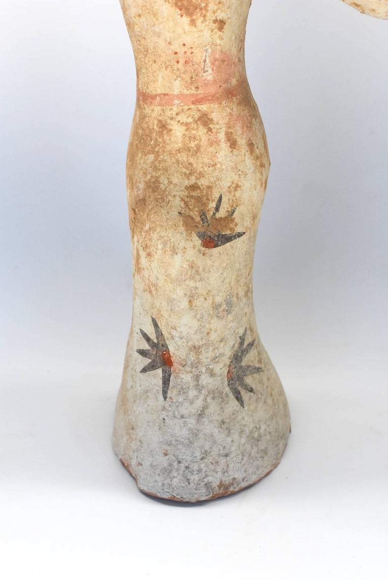 20th Century Pottery Figure Dancer, Han Style Terracotta For Sale