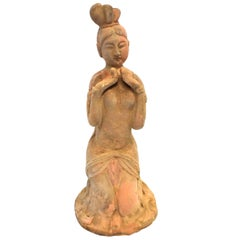 Pottery Figure Seductress, Han Style Terracotta