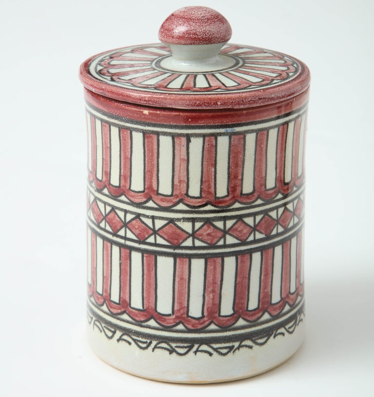 Pottery from Morocco. The design is inspired from Swedish midcentury pottery like Stig Lindberg.