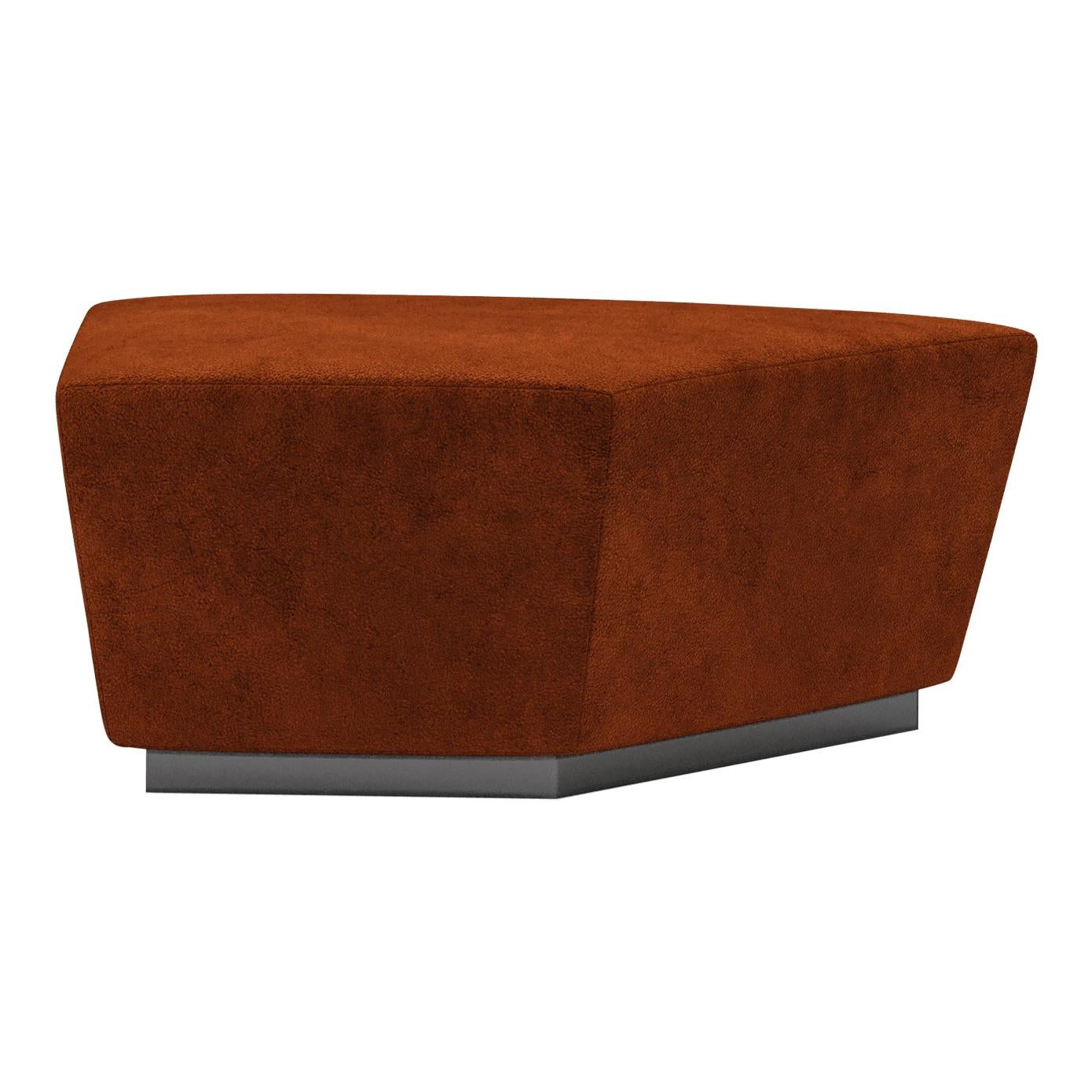 Pouf Element Contemporary Modular Sofa by Fabio Arcaini Settee Velvet