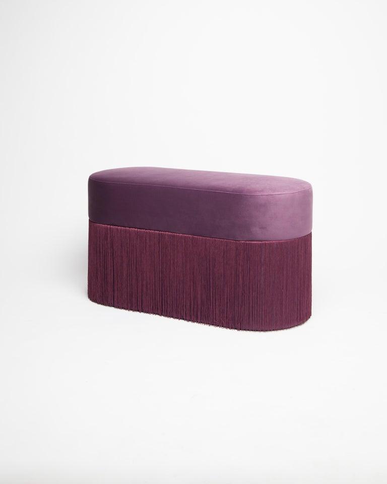 Velvet Pouf Pill L by Houtique For Sale