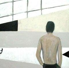 Figure In Modern Interior