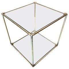 "Poul Cadovius ""Absracta"" Chrome and Glass Table"