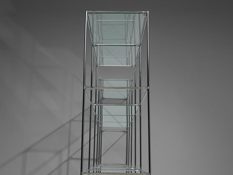 Steel Poul Cadovius 'Abstracta' Shelving Unit For Sale