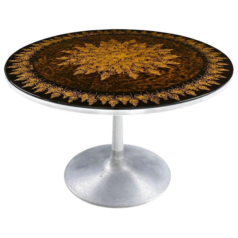 Poul Cadovius Cado Aluminium Dining Table by Susanne Fjeldsoe AKA Mygge For Sale