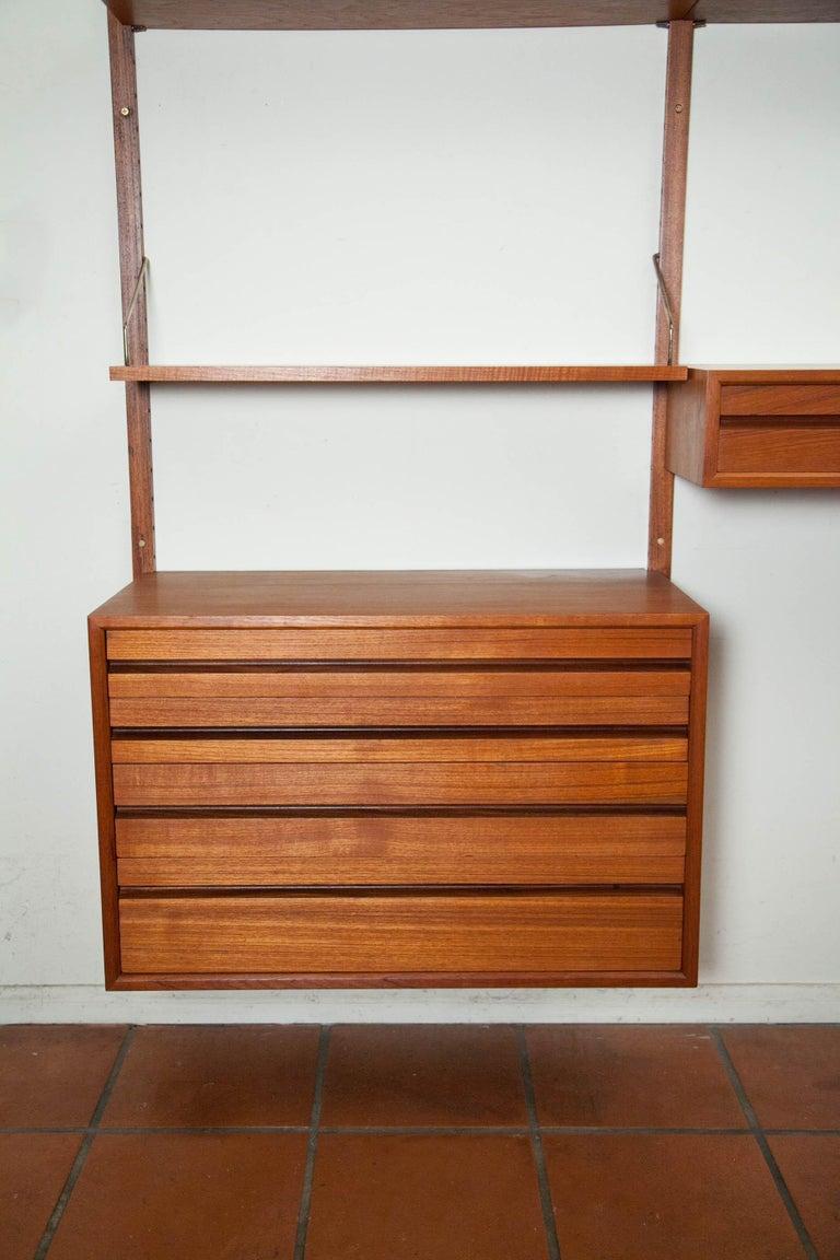 Poul Cadovius, Cado Royal System 3 Bay Teak Modular Wall Unit, Denmark, 1960s For Sale 13