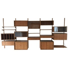 Poul Cadovius Cado Royal System Wall Unit Shelving Bookcase 1960s 1970s in Teak