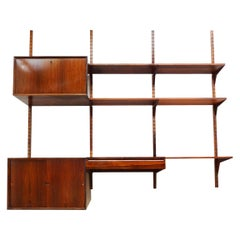 Poul Cadovius Danish Midcentury Floating Royal System Wall Unit and Shelving