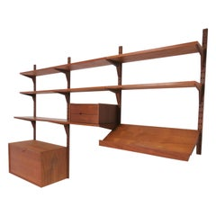 "Poul Cadovius Danish Teak ""Cado"" Wall-Mounted Shelving Unit, circa 1960s"