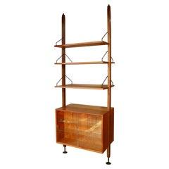 Poul Cadovius Floating Cabinet Wall Shelving Unit Bookshelf Bookcase