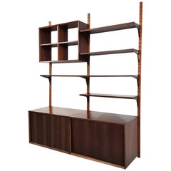 Poul Cadovius for CADO Rosewood Wall Unit, Denmark, 1960s
