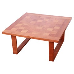 Poul Cadovius for France & Sons Danish Modern Teak Checkerboard Coffee Table