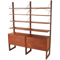 Poul Cadovius for Royal System Walnut Free Standing Wall Unit