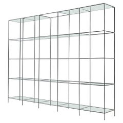 Poul Cadovius Free-Standing Shelf Model 'Abstracta' in Steel and Glass