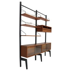 Poul Cadovius Freestanding Modular Wall Unit System for Royal System, 1960s