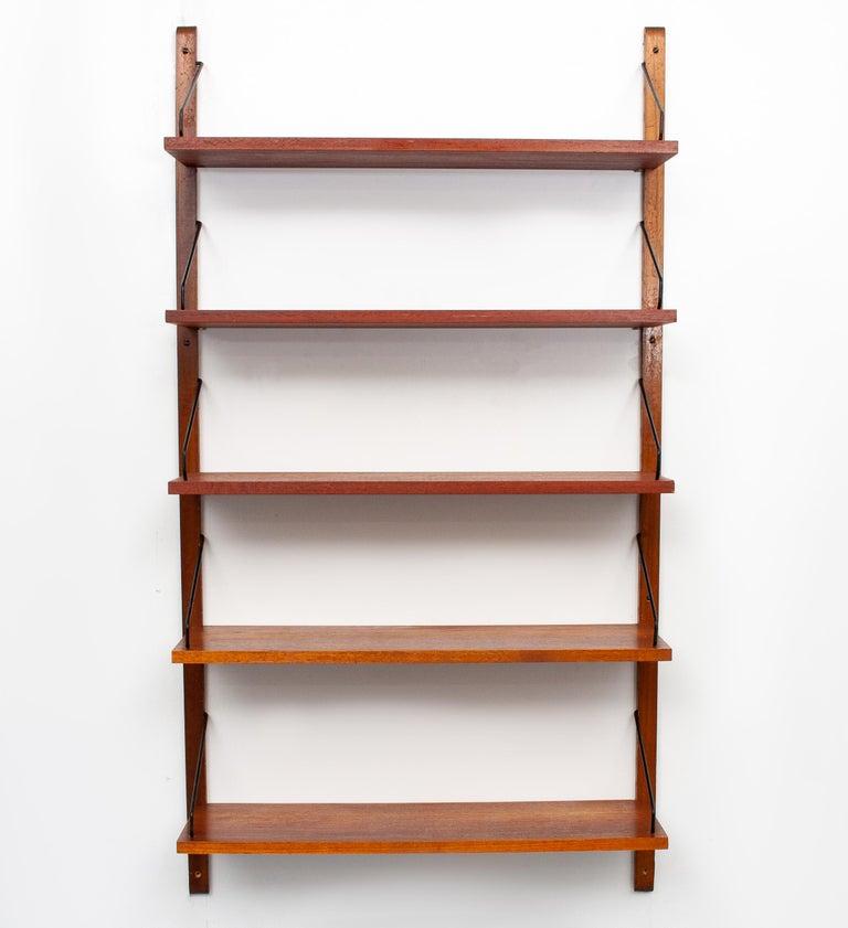 Mid-Century Modern Poul Cadovius Hanging Bookcase Cado Model Royal, Denmark For Sale