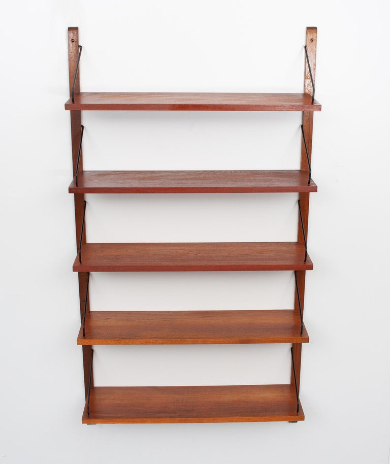 Mid-20th Century Poul Cadovius Hanging Bookcase Cado Model Royal, Denmark For Sale
