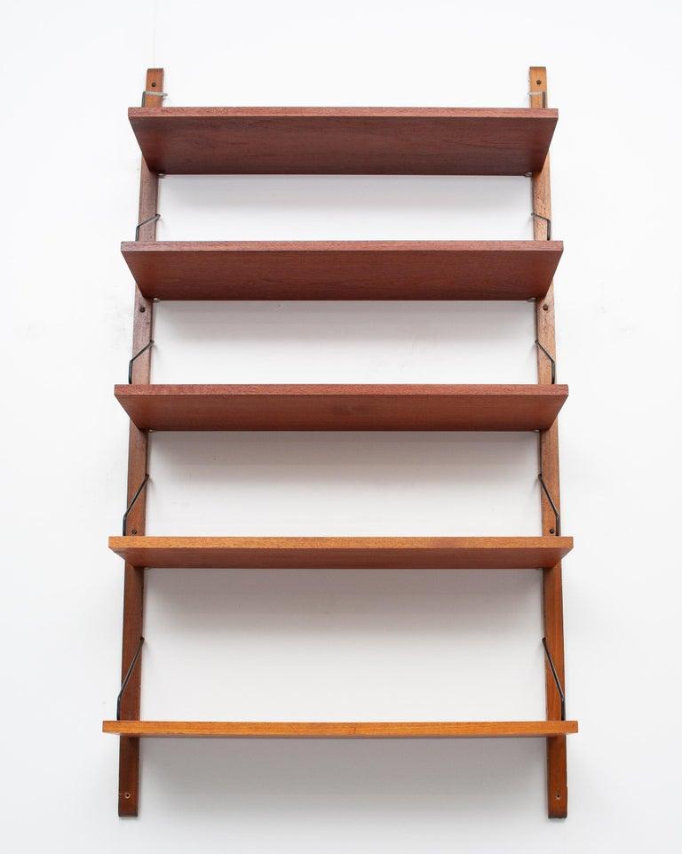 Teak Poul Cadovius Hanging Bookcase Cado Model Royal, Denmark For Sale