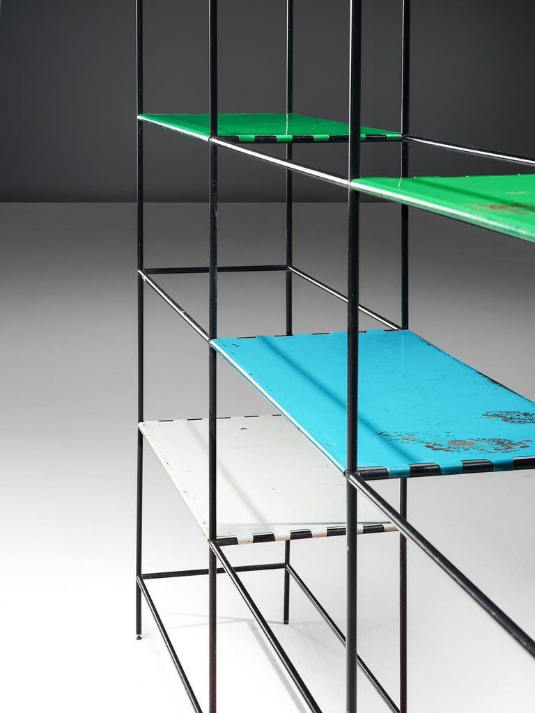 Metal Poul Cadovius Modular Shelving System For Sale