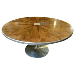 Poul Cadovius Rosewood Dinning Table with Aluminium Pedestal Base