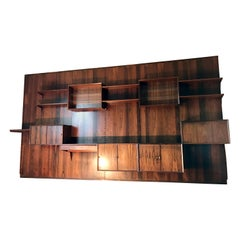 Poul Cadovius Rosewood Wall Unit Shelving System